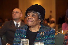 A participant at the annual Cambridge NAACP Martin Luther King Jr. Breakfast